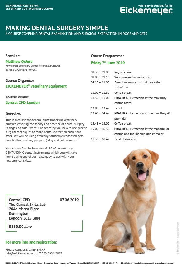 Veterinary Courses | Eickemeyer Veterinary Equipment